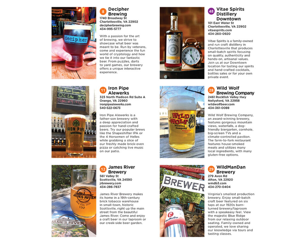 Craft Beverage Guide of the Blue Ridge Ads 2021